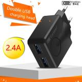 Diskon Earldom Es 186 Cell Phone Dual Usb Charger 5V 2 4A Fast Charging Travel Charger For Iphone Samsung Android Smart Phones Earldom Home Travel Charger 2 Port Es 186 Black Indonesia