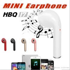 Earphone HBQ I7 In-Ear Wireless Headset Bluetooth Sport Invisible Music Earbud Dengan Mikrofon Untuk iPhone Apple Samsung Xiaomi Huawei Random Colour