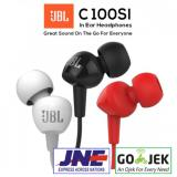 Promo Earphone Headset Handsfree Jbl C100Si Ori Garansi Resmi Segel Jbl Terbaru