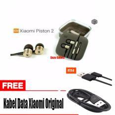 Toko Earphone Xiaomi Big Bass Piston Mi 2Nd Original Gold Free Kabel Data Micro Usb Original Xiaomi Dekat Sini