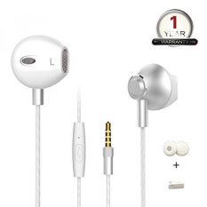 Earphone Earbud dengan Mic, TOFDSD Earpods In-Ear Logam Earphone HD Stereo Bass Headphone untuk IPhone IPad IPod Samsung LG HTC Dll-Intl