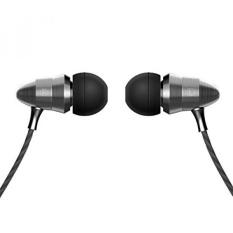 Earphone, Di Telinga Earbuds dengan Super Bass, HD Mic, Logam Membatalkan Kebisingan HIFI Headphone Kabel untuk Android IPhone-Abu-abu-Intl
