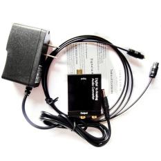 Easybuy Digital Optik Koaksial Toslink Sejalan Adaptor Konverter Sinyal Audio RCA dari L/R