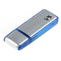Easbuy U Disk Audio Digital Perekam Suara Pena USB Flash Drive Kartu TF 8 GB? Biru?