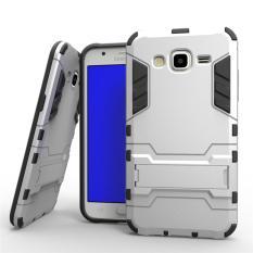 EastJava Case Kick Stand for Samsung Galaxy J5 2015 Robot Transformer Ironman Limited - Silver