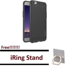 EastJava ipaky shockproof hHybrid Back Case for OPPO A39 Black Free iRing Stand