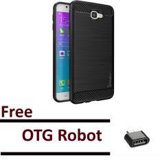 EastJava ipaky shockproof hHybrid Back Case for Samsung Galaxy J5 Prime BlackFree OTG Robot