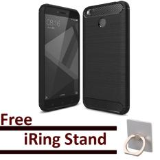 EastJava ipaky shockproof hHybrid Back Case for Xiaomi Redmi 4X Black Free iRing Stand