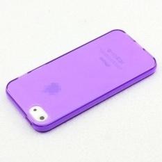 Eastvita Mati-Element Bening Gel TPU Fleksibel Ramping Lembut Case untuk Apple iPhone 5G-Ungu- internasional