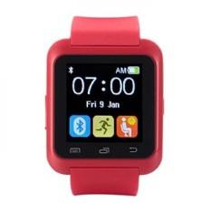Easysmx Bluetooth 4.0 Multi-bahasa Smart Jam Tangan Smartwatch dengan Layar Sentuh Kompatibel dengan Android smartphone Termasuk IPhone, Samsung, HTC, Sony (merah)-Intl