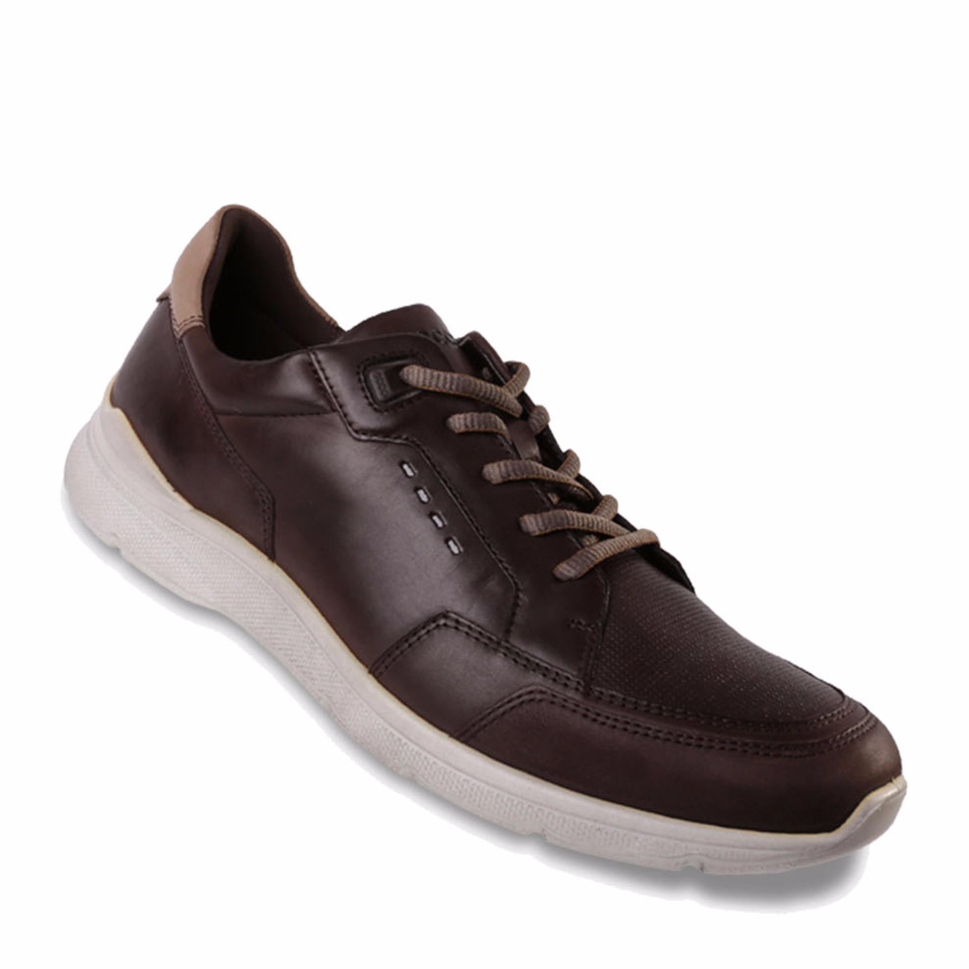 Ecco Irondale Coffee - Sepatu Pria - Coklat