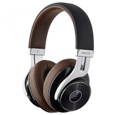 Edifier W855BT Bluetooth Headphone-Over-Ear Stereo Headphone Nirkabel dengan Mikrofon dan Volume Kontrol-Coklat/Hitam -Intl