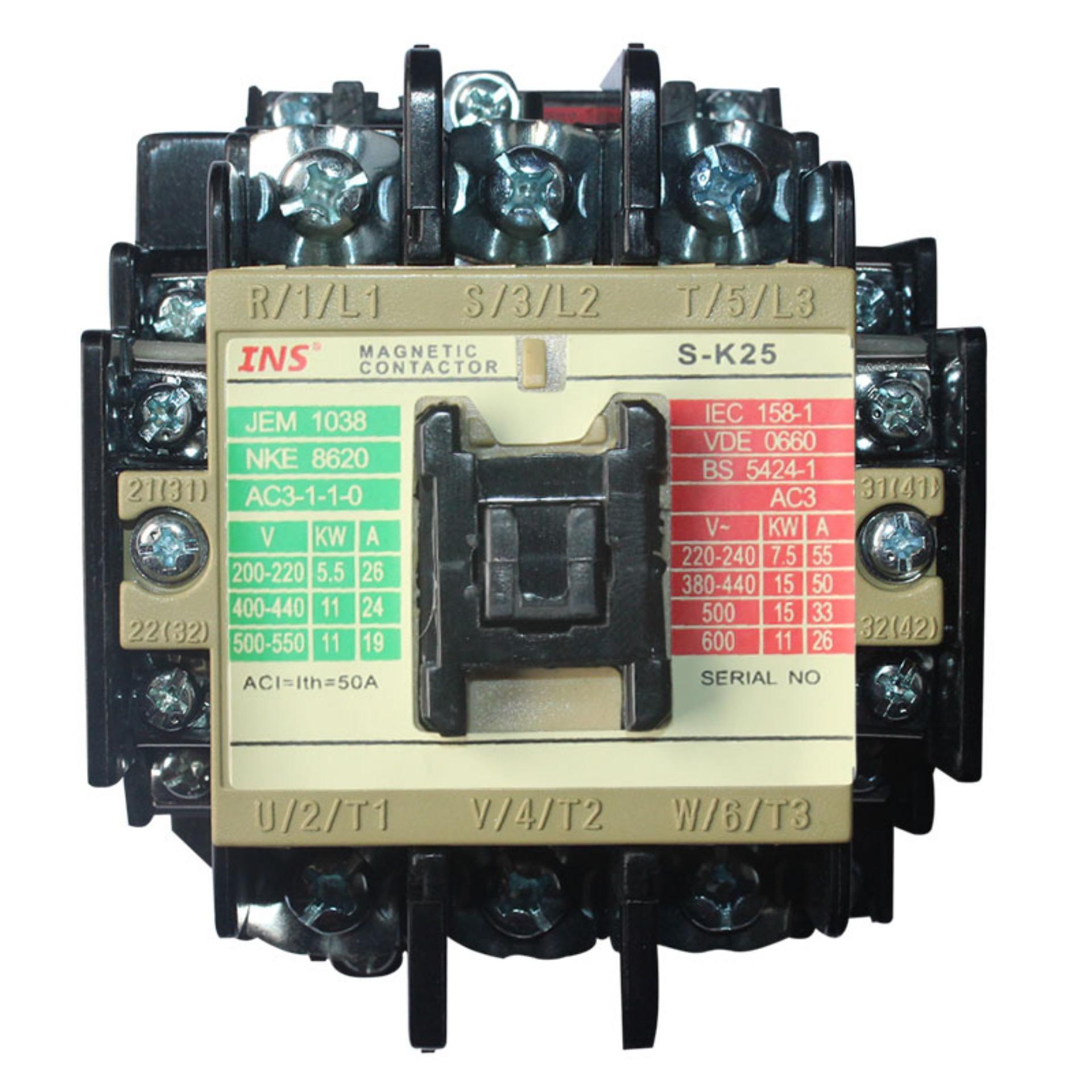 Jual Eelic Com Sk25 Contactor Ac Magnetic 3P Ac 50A 220V 380V 440V 50 60 Hz Coil Antik