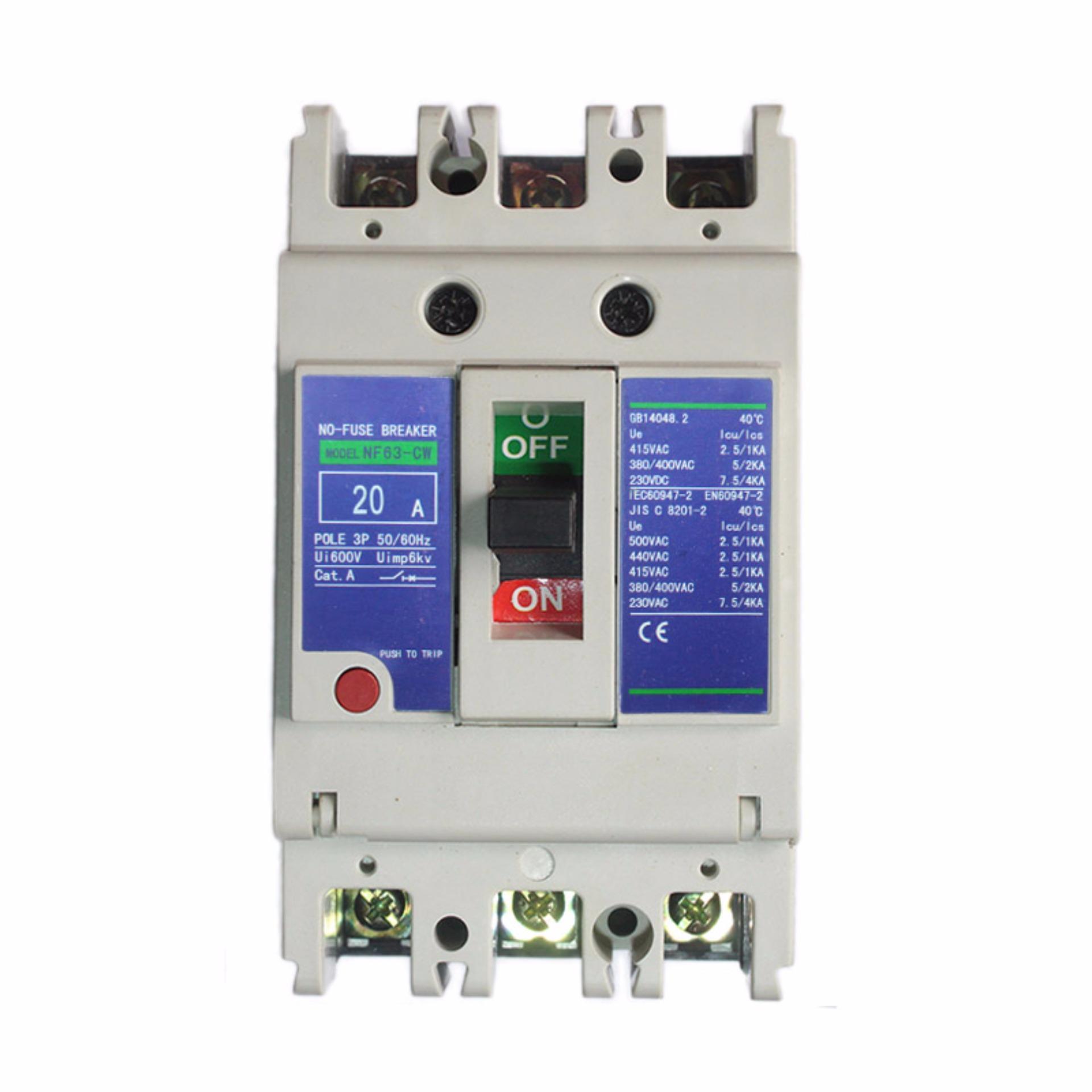 EELIC NFB-CW63 -20A NO FUSE BREAKER ( NFB ) AC Universal 3P AC 20A 220V 380V 440V 600V 50 - 60 Hz c