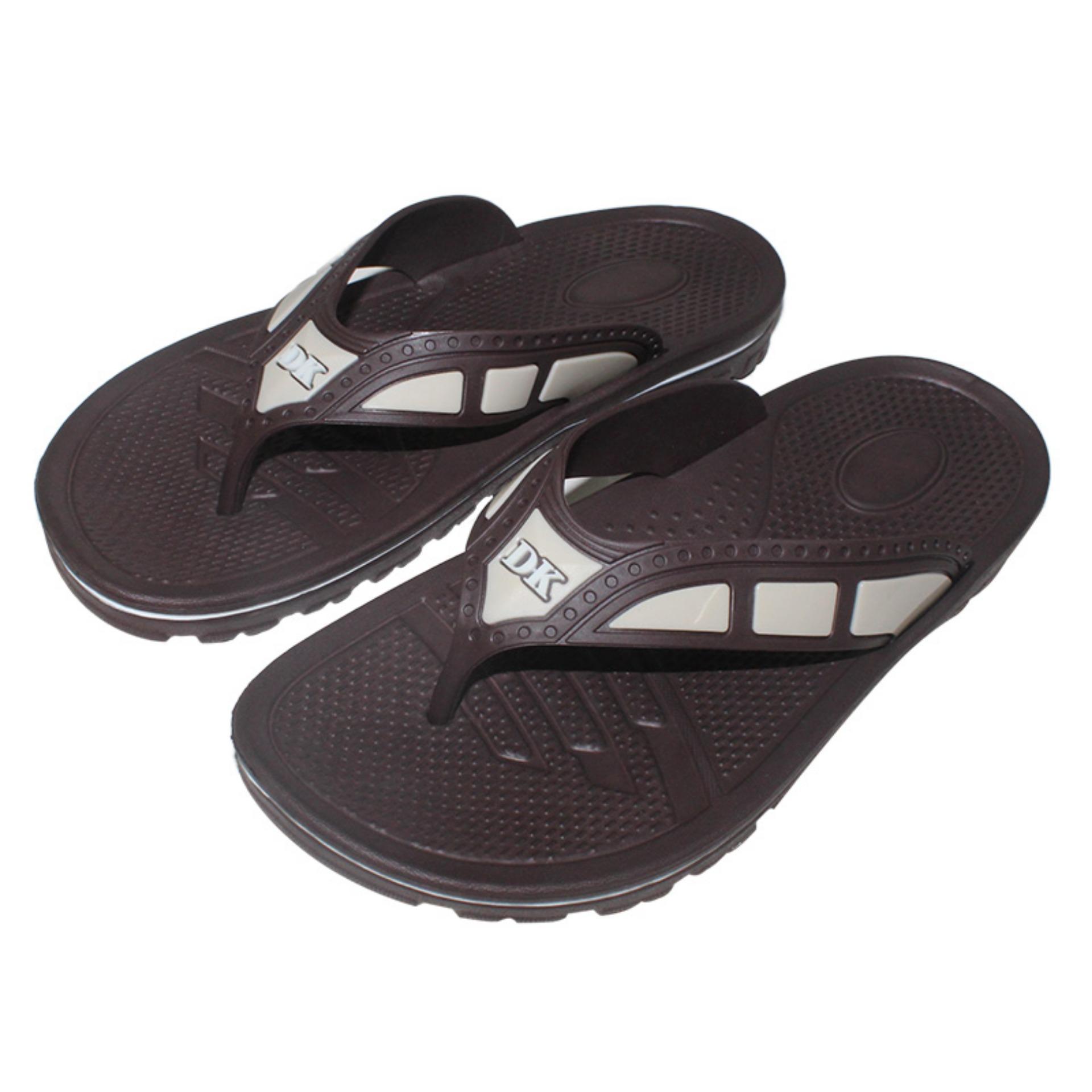 EELIC SJK-513 COKLAT Sandal Jepit Karet Nyaman Dipakai Dan Anti Selip