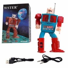 Jual Eelic Spr Ws823Rl Biru Merah Model Robot Digital Speaker Baterai Charge Nyaring Eelic