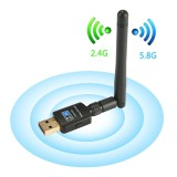 Toko Efuture Wireless Usb Wifi Adapter 600Mbps Dual Band Usb Wireless Adapter 5 8G 2 4G With Antennas For Desktop Laptop Support Windows Xp Vista 7 8 10 Mac Os X 10 4 10 12 Complies With 802 11 B G N Ac Intl Efuture Tiongkok