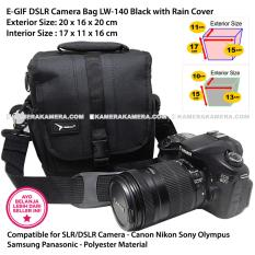 Spesifikasi Egif Lw 140 Black Dslr Camera Bag With Rain Cover For Canon Nikon Sony Olympus Panasonic Samsung Baru