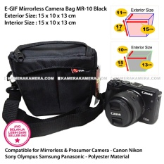 EGIF MR-10 Black Mirrorless + Prosumer Camera Bag for Canon Nikon Sony Olympus Panasonic Samsung