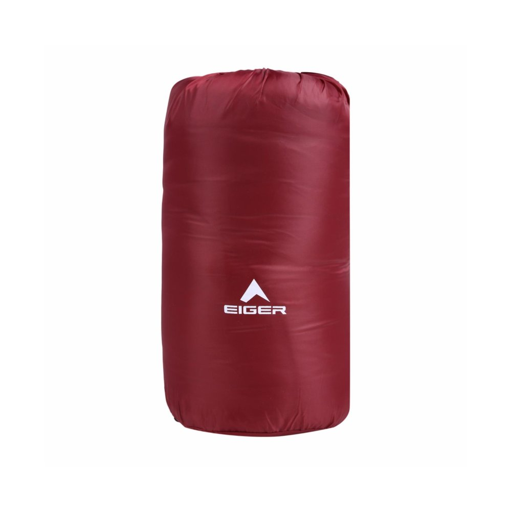 Jual Eiger Sleeping Bag Mummy 250 Maroon Branded Murah