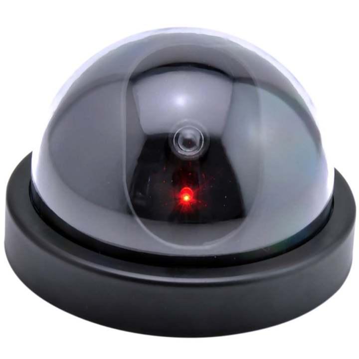 Eigia CCTV Dummy Lampu LED Kedip Fake Security Camera Anti