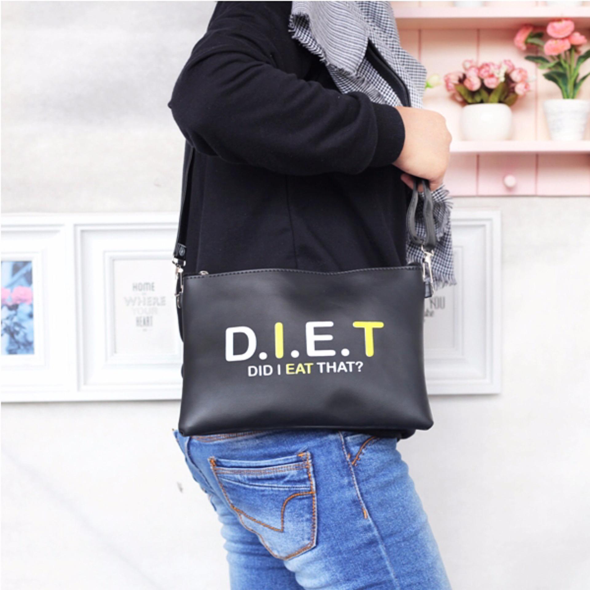10313a25f5 EL PIAZA Diet Women Clutch Bag - Sling Bag Tas Genggam ToteBag Lucu Tas  Jalan Jalan
