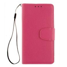Elaike Case untuk HTC Desire 630 Lichee Butir PU Kulit Dompet Kartu Slot Flip Stand Case Cover (Rose) -Intl