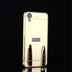Elaike For HTC Desire 628 2 in 1 Luxury Aluminum Metal Mirror PC Phone Cover Case (Gold) - intl