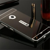Beli Elaike For Nokia Lumia 535 2 In 1 Luxury Aluminum Metal Mirror Pc Phone Cover Case Black Oem Online