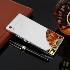 Elaike untuk Sony Xperia XA1 Ultra Case 2 In 1 Plating Aluminium Bingkai Logam Cermin PC Hard Cover Telepon- INTL
