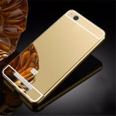 Elaike untuk Xiaomi Redmi 4A Case 2 In 1 Plating Aluminium Bingkai Logam Cermin PC Hard Cover Telep