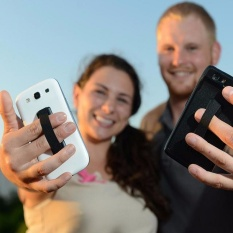 Elastis Band Menempel Ponsel & Tali Holder Cincin Jari Handle Perangkat Sling Grip untuk IPhone 7 6 S Samsung-Intl