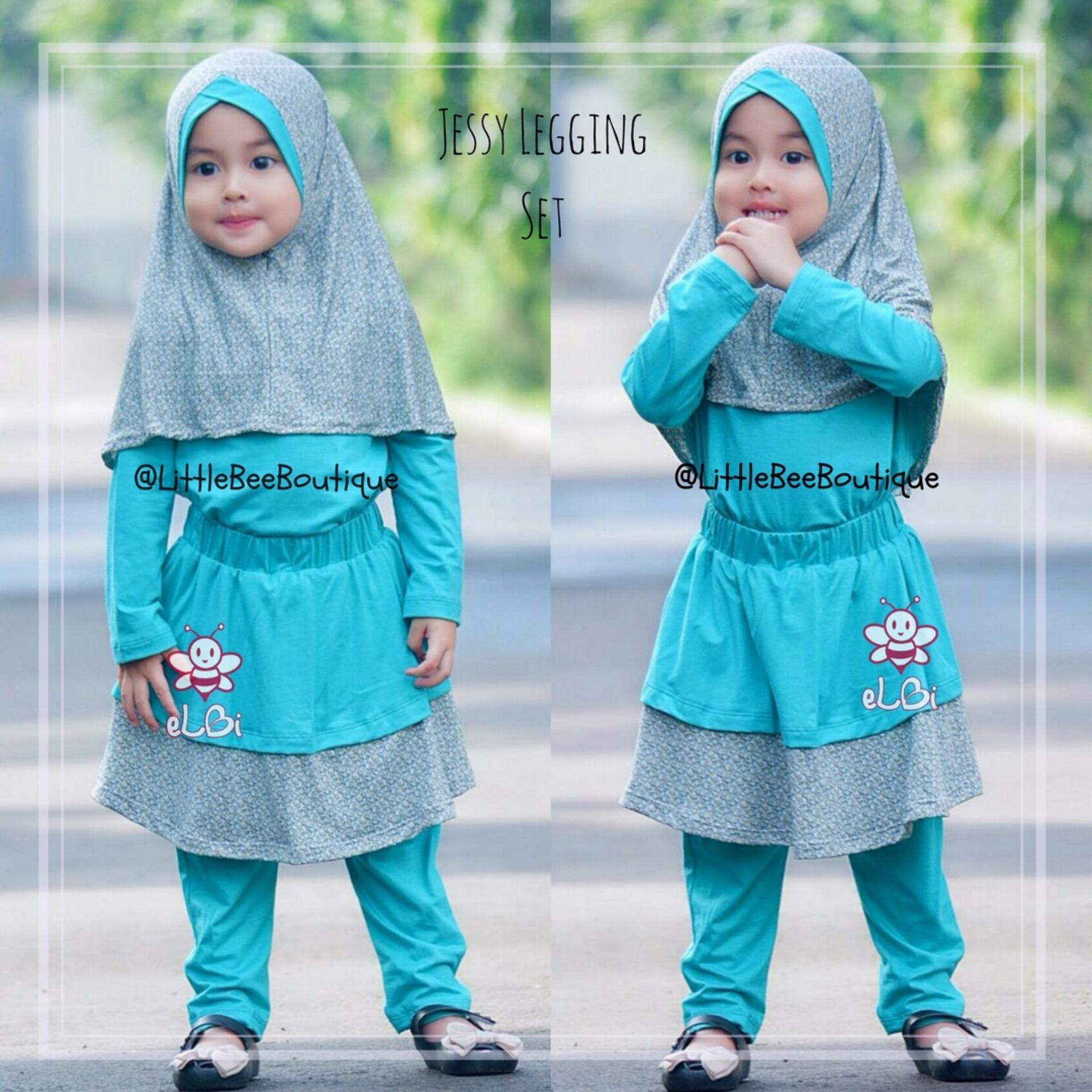 eLBi Baju Setelan Anak Balita Muslim Perempuan Jessy Legging Set
