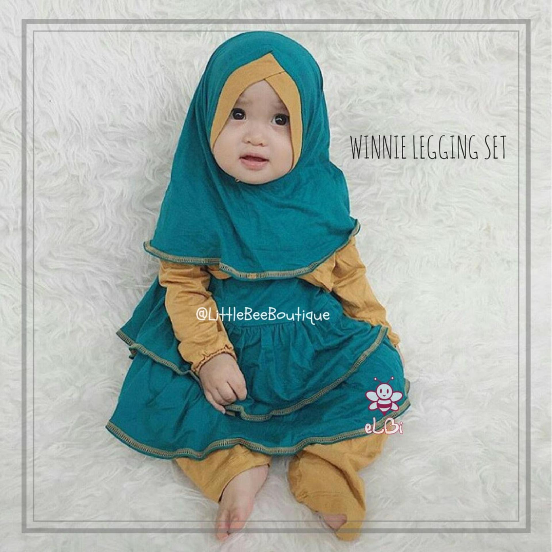 Review Toko Elbi Winnie Legging Set Baju Muslim Balita Baju Muslim Bayi Perempuan By Little Bee Boutique