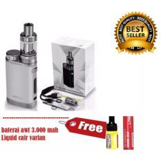 Eleaf iStick Pico Starter Kit 75W Rokok Elektrik Silver GRATIS+ Baterai AWT 3000 MAH + Liquid Variasi Rasa