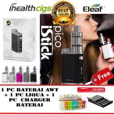 Katalog Eleaf Istick Pico Starter Kit 75W Rokok Elektrik Vape Vapor Free 1 Pc Baterai Awt 3 000 Mah 1 Pc Liqua E Liquids Refill 1 Pc Charger Baterai Quick Charging Black Eleaf Terbaru