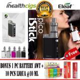 Beli Eleaf Istick Pico Vape Vapor Black Siap Pakai Full Starter Kit 75W Rokok Elektrik Free 1 Pc Baterai Awt Free 10 Pc Liqua E Liquid Refill Di Banten