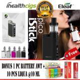 Model Eleaf Istick Pico Vape Vapor Siap Pakai Full Black Starter Kit 75W Rokok Elektrik Free 1 Pc Baterai Awt Free 10 Pcs Liqua E Liquid Refill Terbaru