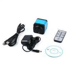 Elec 14 MP TV HDMI USB C-Mount Kamera Mikroskop Digital Kartu Tf Perekam Video DVR Biru Danau