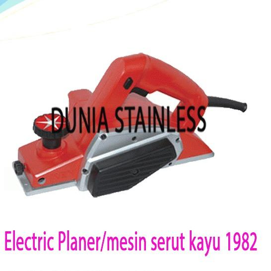 Electric Planer/mesin serut kayu 1982alat alat teknik kayu bangunan interior almunium mebel.