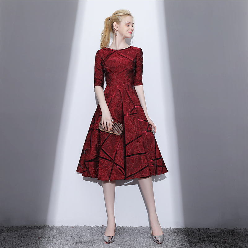 Harga Elegan Mahal Baru Musim Semi Di Bagian Panjang Rok Gaun Gaun Malam Arak Anggur Warna Terbaik