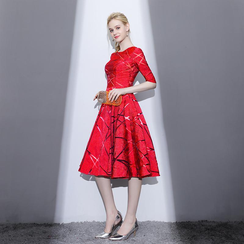 Jual Elegan Mahal Baru Musim Semi Di Bagian Panjang Rok Gaun Gaun Malam Merah Antik