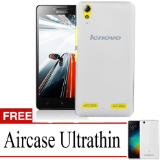 Elegant Aircase Ultrathin For Lenovo A6010 - Abu-abu Transparan + Gratis Aircase Ultrathin