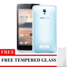 Elegant Aircase Ultrathin For Oppo Joy R1001 + Gratis Tempered Glass - Biru  Clear