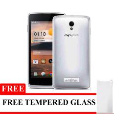 Elegant Aircase Ultrathin For Oppo Joy R1001 + Gratis Tempered Glass - Hitam  Clear