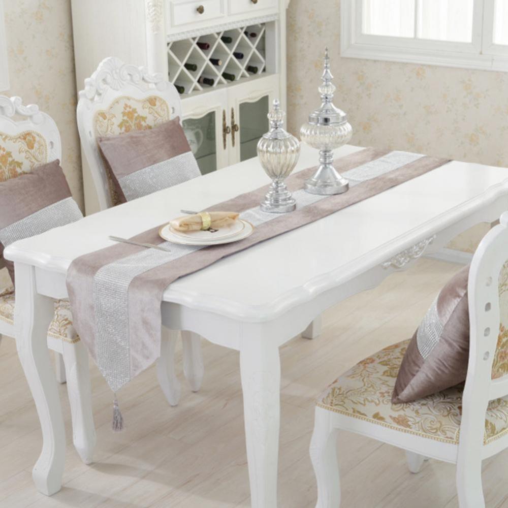 Jual Elife Baru Meja Modern Polyester Flanel Rhinestones Pernikahan Dekorasi Natal Ungu Golden Table Runner Intl Lengkap