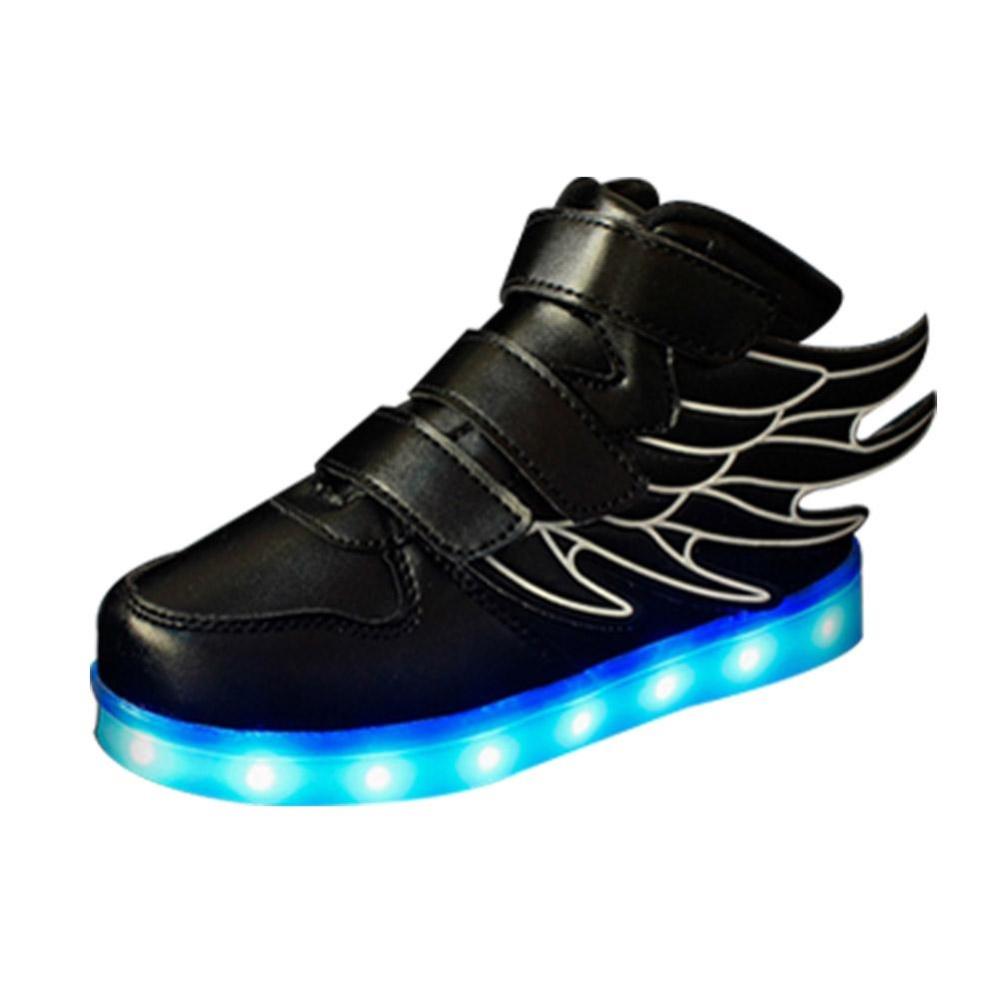 Elife Gaya Baru Anak Anak Lucu Luminous Sayap Dekorasi LED Casual USB  Rechargeable Night Light Sepatu b9382626c9