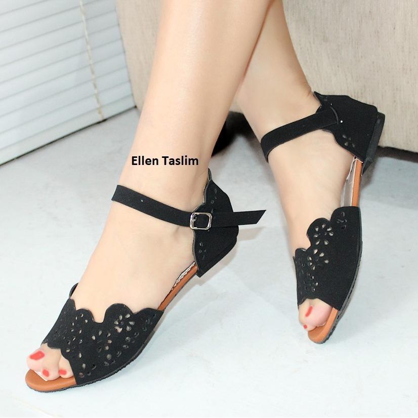 Ellen Taslim AM-04 Sandal Flat Laser Cut