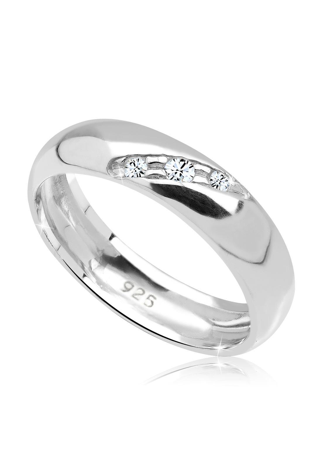 Promo Elli Germany 925 Silver Cincin Elegant Swarovski Crystals Putih Bali