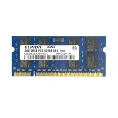 Elpida DDR2 2 GB 667 MHz PC2-5300 Jadi-Ram DIMM Memori Laptop Memoria Notebook-Intl